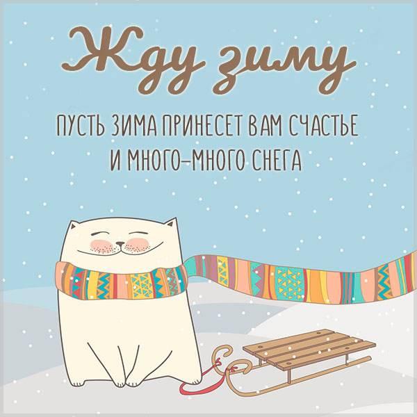 Картинка жду зиму - скачать бесплатно на otkrytkivsem.ru