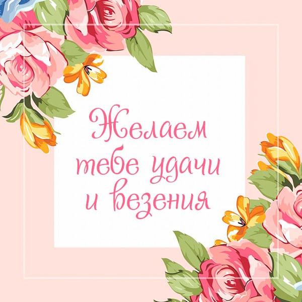 Картинка желаем удачи и везения - скачать бесплатно на otkrytkivsem.ru