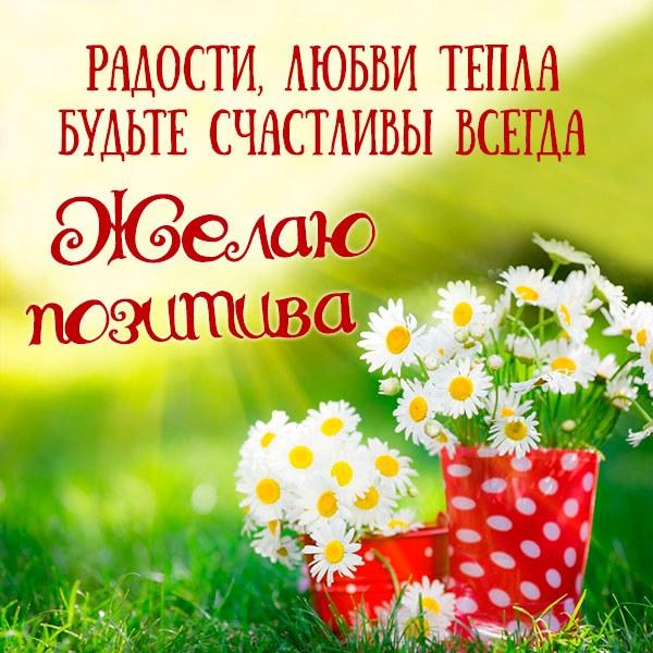 Картинка желаю позитива картинка - скачать бесплатно на otkrytkivsem.ru