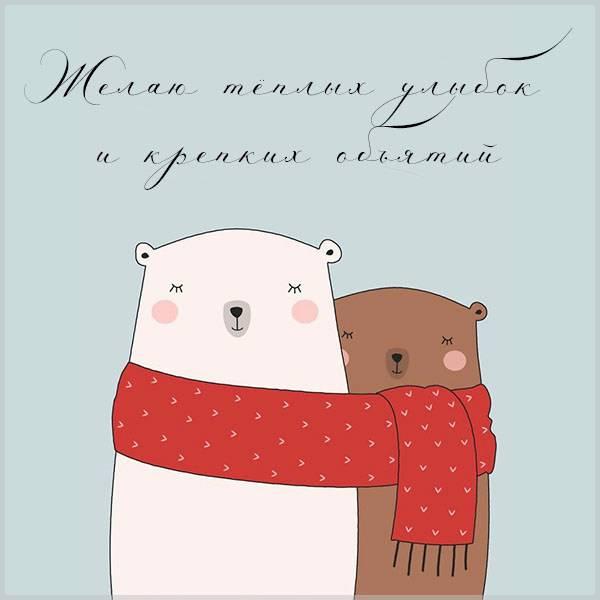 Картинка зимнего позитива - скачать бесплатно на otkrytkivsem.ru