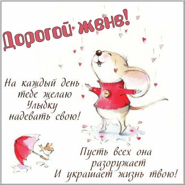 Красивая бесплатная картинка для жены - скачать бесплатно на otkrytkivsem.ru