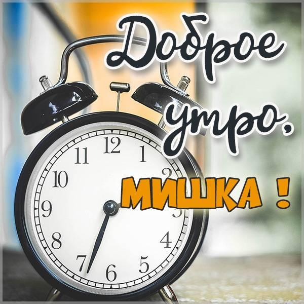 Красивая картинка доброе утро Мишка - скачать бесплатно на otkrytkivsem.ru
