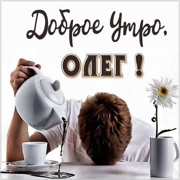 Красивая картинка доброе утро Олег - скачать бесплатно на otkrytkivsem.ru