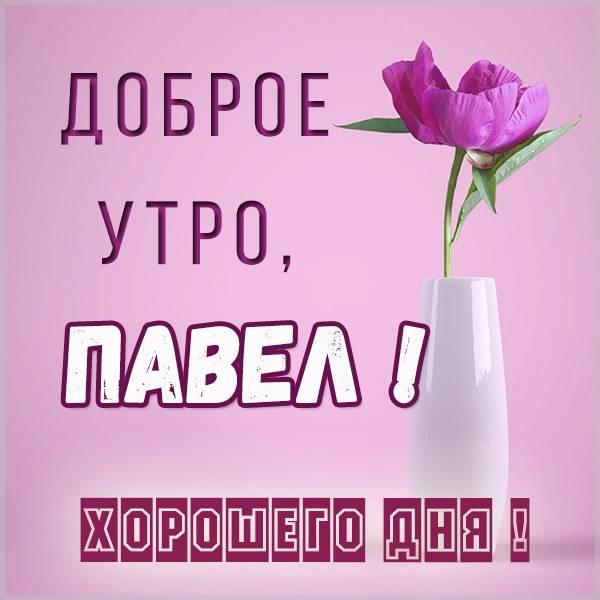 Красивая картинка доброе утро Павел - скачать бесплатно на otkrytkivsem.ru