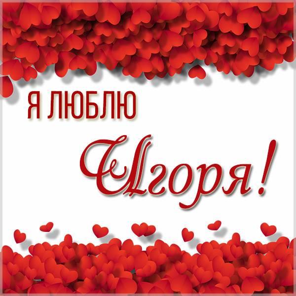 Красивая картинка люблю Игоря - скачать бесплатно на otkrytkivsem.ru