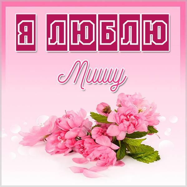 Красивая картинка люблю Мишу - скачать бесплатно на otkrytkivsem.ru