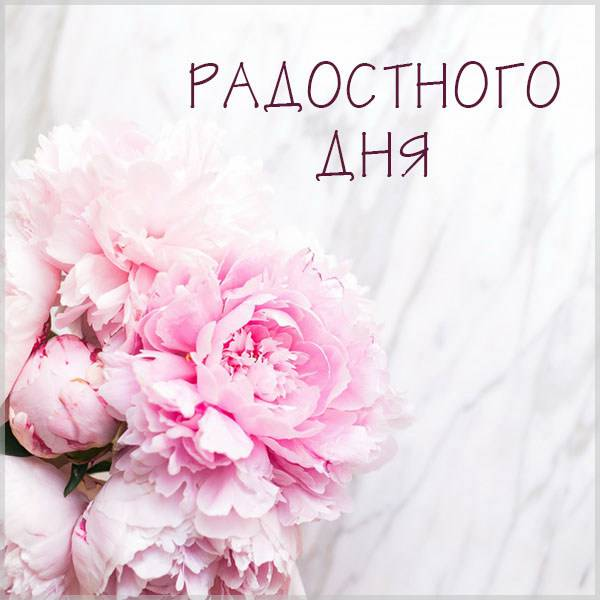 Красивая картинка радостного дня - скачать бесплатно на otkrytkivsem.ru