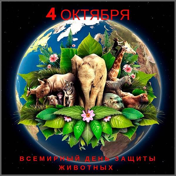 Красивая картинка с Днем Защиты Животных - скачать бесплатно на otkrytkivsem.ru