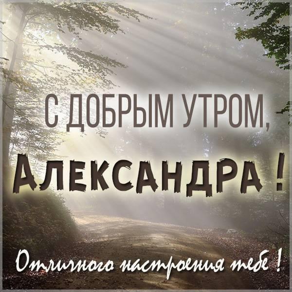 Красивая картинка с добрым утром Александра - скачать бесплатно на otkrytkivsem.ru