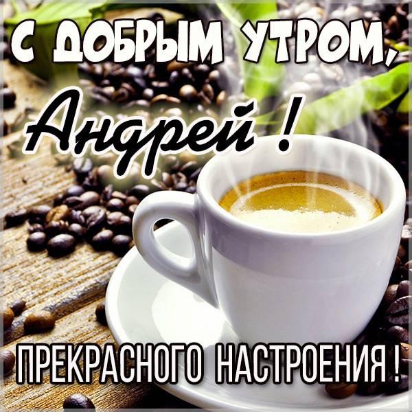 Красивая картинка с добрым утром Андрей - скачать бесплатно на otkrytkivsem.ru