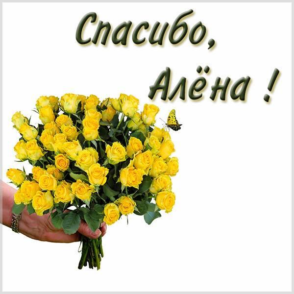 Красивая картинка спасибо Алена - скачать бесплатно на otkrytkivsem.ru