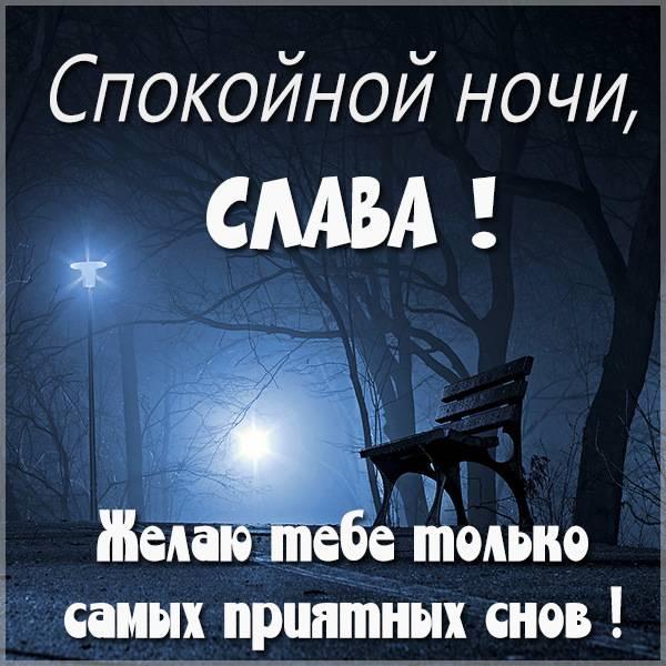 Красивая картинка спокойной ночи Слава - скачать бесплатно на otkrytkivsem.ru