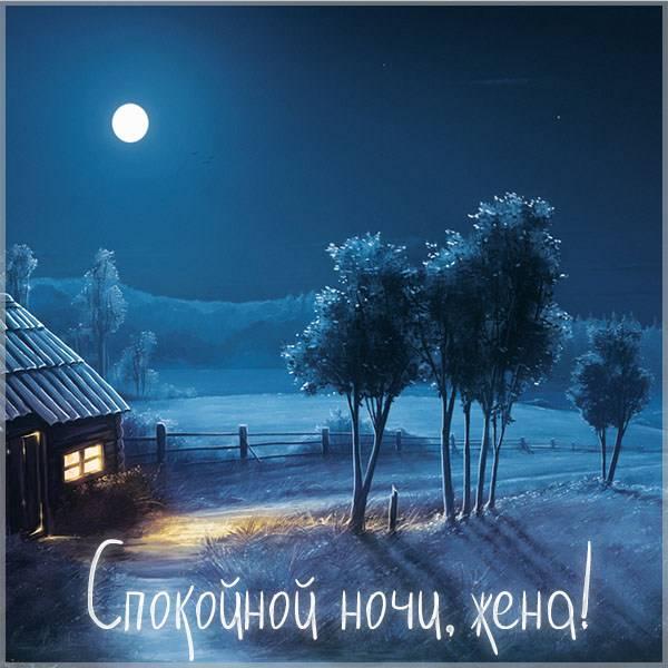 Красивая картинка спокойной ночи жене - скачать бесплатно на otkrytkivsem.ru