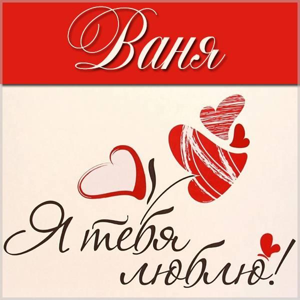 Красивая картинка Ваня я тебя люблю - скачать бесплатно на otkrytkivsem.ru