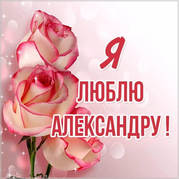 Красивая картинка я люблю Александру - скачать бесплатно на otkrytkivsem.ru