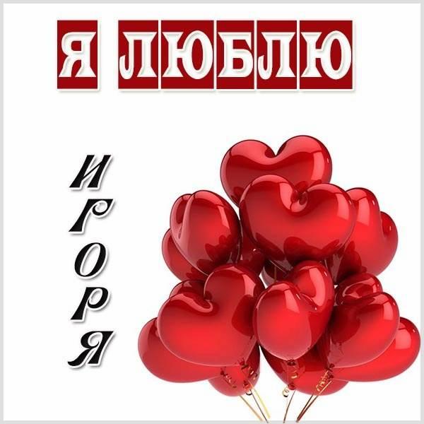 Красивая картинка я люблю Игоря - скачать бесплатно на otkrytkivsem.ru