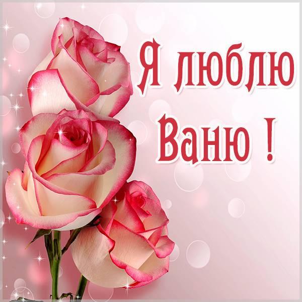 Красивая картинка я люблю Ваню - скачать бесплатно на otkrytkivsem.ru