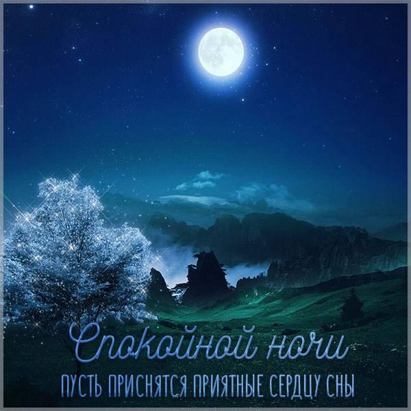 Красивая летняя виртуальная открытка спокойной ночи - скачать бесплатно на otkrytkivsem.ru