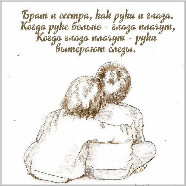 Красивая открытка брату от сестры - скачать бесплатно на otkrytkivsem.ru