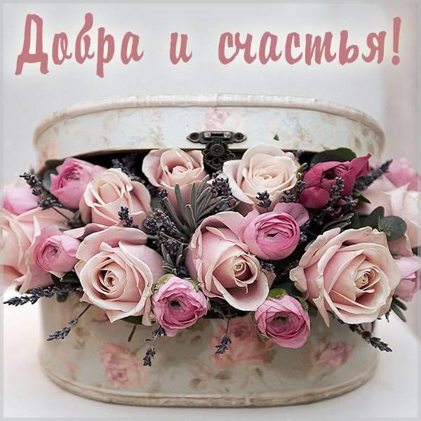 Красивая открытка добра и счастья - скачать бесплатно на otkrytkivsem.ru