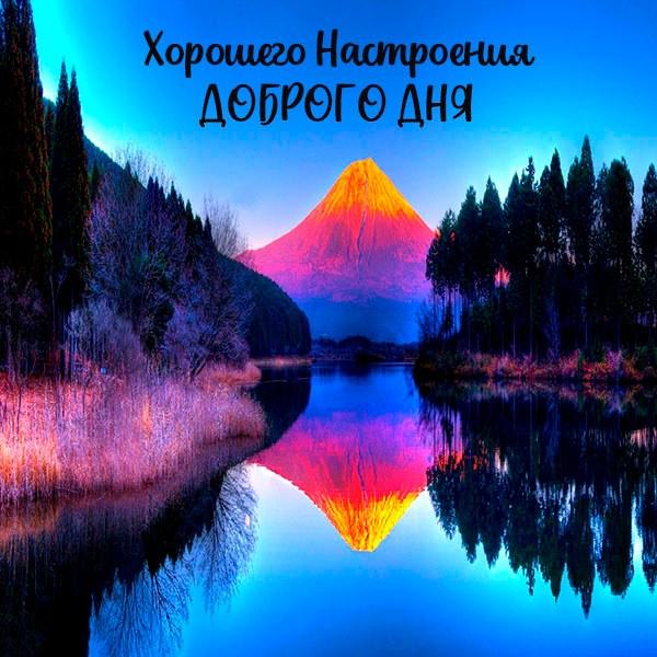 Красивая открытка доброго дня и хорошего настроения - скачать бесплатно на otkrytkivsem.ru