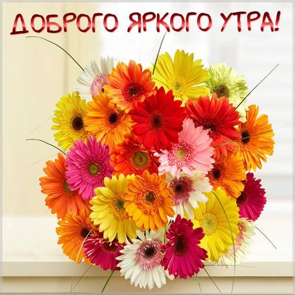Красивая открытка доброго яркого утра - скачать бесплатно на otkrytkivsem.ru