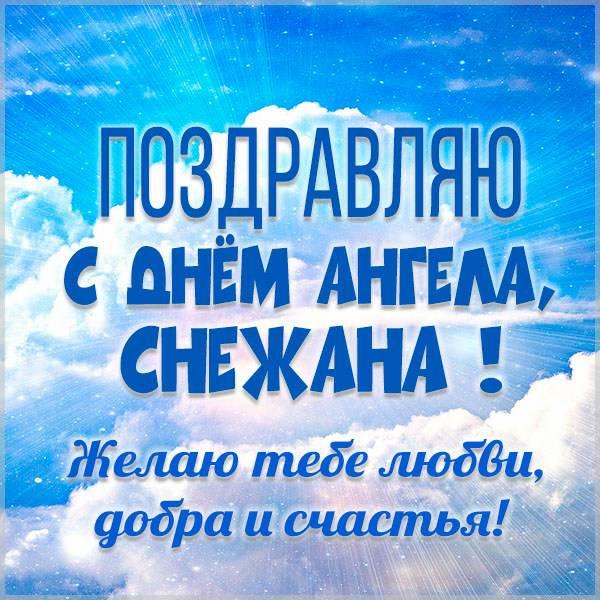 Красивая открытка на день ангела для Снежаны - скачать бесплатно на otkrytkivsem.ru