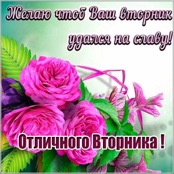 Красивая открытка отличного вторника - скачать бесплатно на otkrytkivsem.ru