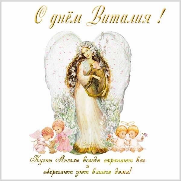 Красивая открытка с днем Виталия - скачать бесплатно на otkrytkivsem.ru
