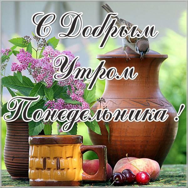 Красивая открытка с добрым утром понедельника - скачать бесплатно на otkrytkivsem.ru