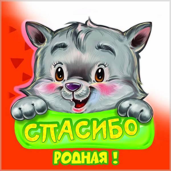 Красивая открытка спасибо родная - скачать бесплатно на otkrytkivsem.ru