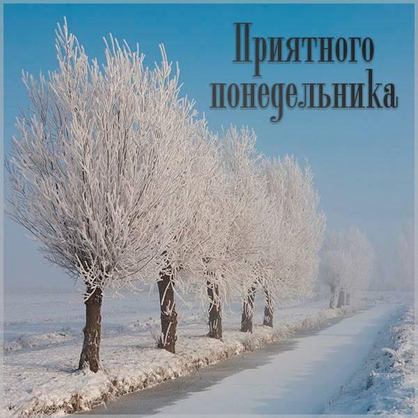 Красивая зимняя картинка про понедельник - скачать бесплатно на otkrytkivsem.ru