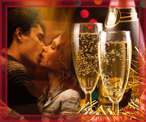 Любовь и романтика в Новогоднюю Ночь - скачать бесплатно на otkrytkivsem.ru