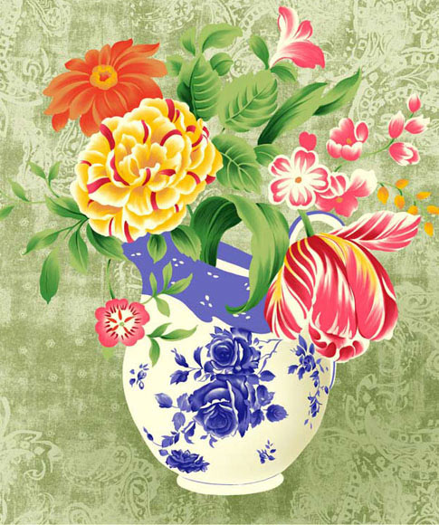 Нарисованная картинка с цветами - скачать бесплатно на otkrytkivsem.ru