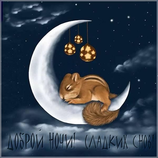 Нежная картинка доброй ночи сладких снов - скачать бесплатно на otkrytkivsem.ru