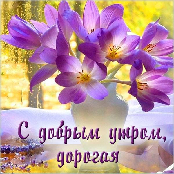 Нежная открытка с добрым утром девушке - скачать бесплатно на otkrytkivsem.ru