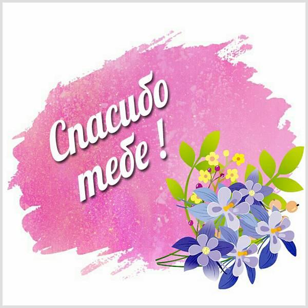 Нежная открытка спасибо - скачать бесплатно на otkrytkivsem.ru