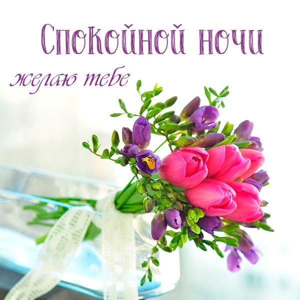 Нежное пожелание спокойной ночи в картинке женщине - скачать бесплатно на otkrytkivsem.ru