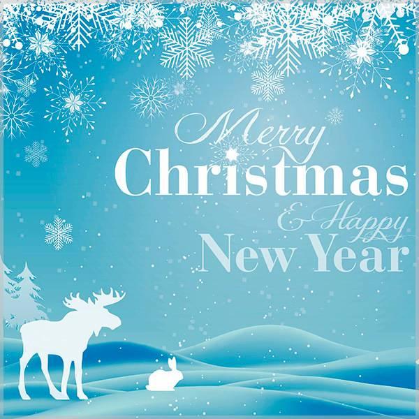 Английская открытка с Рождеством и Новым Годом - скачать бесплатно на otkrytkivsem.ru