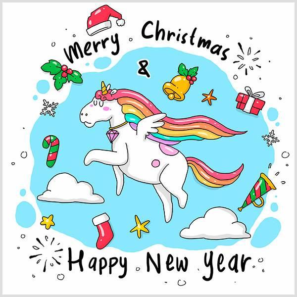 Детская открытка с Новым Годом на английском - скачать бесплатно на otkrytkivsem.ru