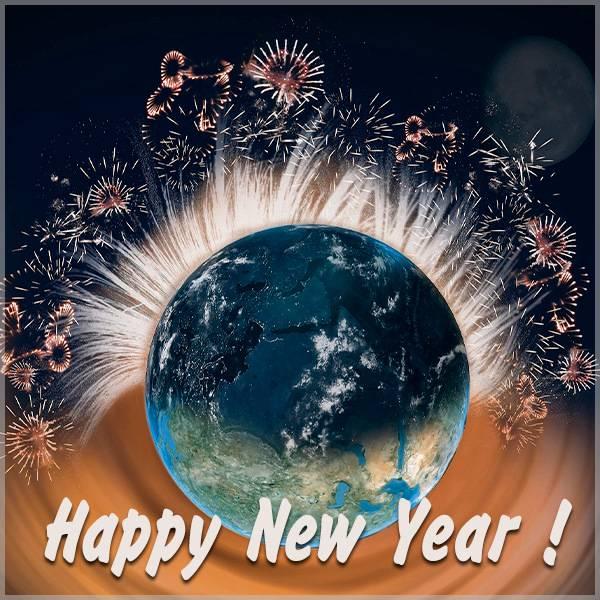 Красивая открытка с Новым Годом на английском - скачать бесплатно на otkrytkivsem.ru