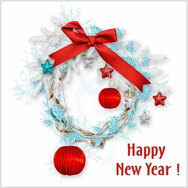 Новогодняя открытка Happy New Year - скачать бесплатно на otkrytkivsem.ru