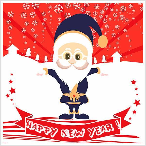 Новогодняя открытка на английском языке для детей - скачать бесплатно на otkrytkivsem.ru