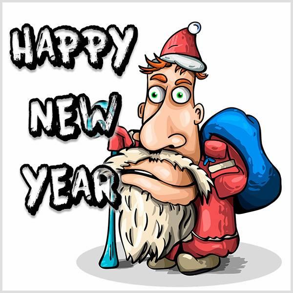 Открытка счастливого нового года на английском языке - скачать бесплатно на otkrytkivsem.ru