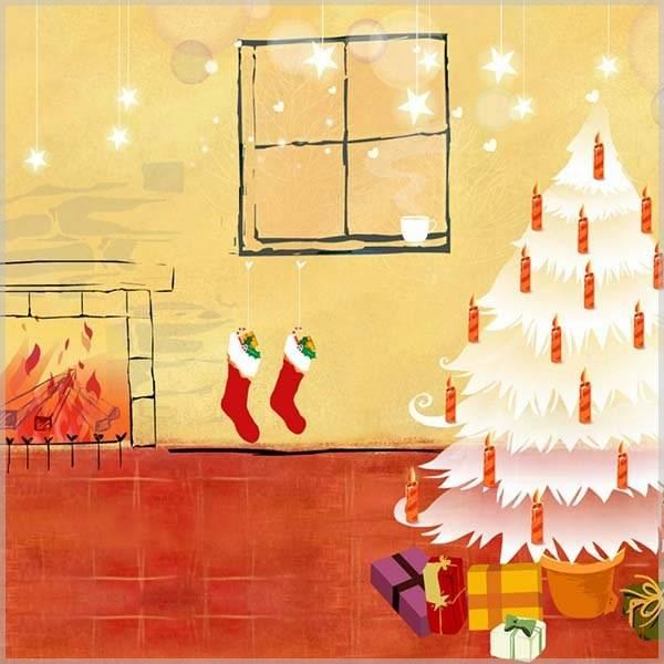 Поздравительная новогодняя открытка для детей - скачать бесплатно на otkrytkivsem.ru