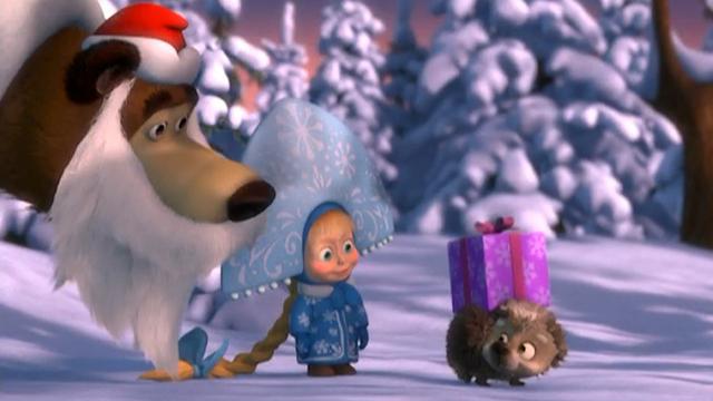 Новый год Маша и Медведь - скачать бесплатно на otkrytkivsem.ru