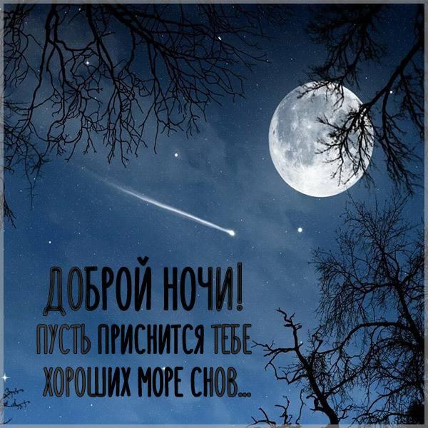 Осенняя картинка доброй ночи красивая необычная - скачать бесплатно на otkrytkivsem.ru