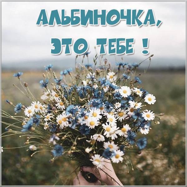 Открытка Альбиночка это тебе - скачать бесплатно на otkrytkivsem.ru