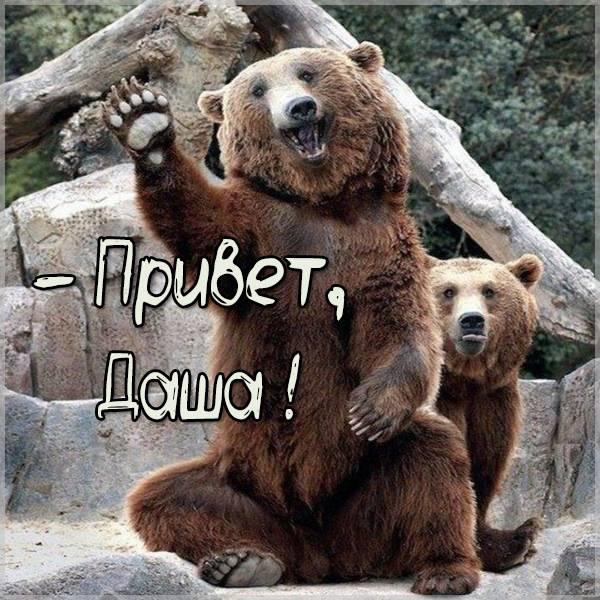 Открытка Даша привет - скачать бесплатно на otkrytkivsem.ru