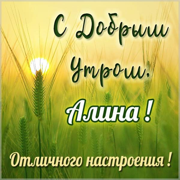 Открытка для Алины с добрым утром - скачать бесплатно на otkrytkivsem.ru